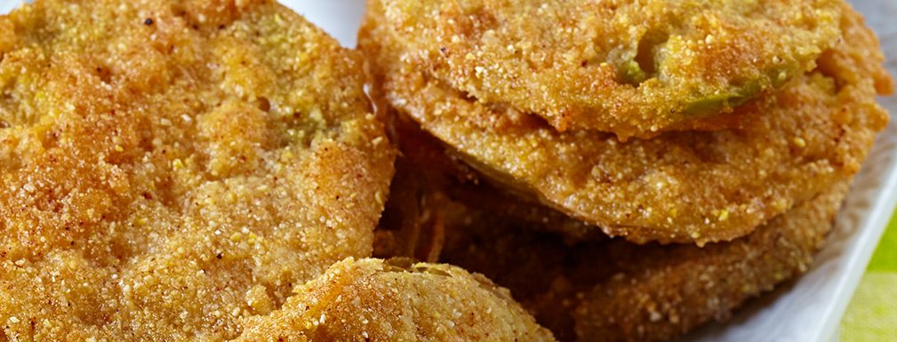 Rustic Fried Green Tomatoes With Cajun Beurre Blanc From Viking Cruises